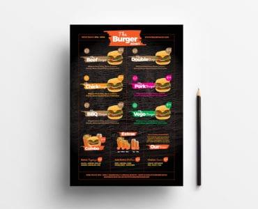 Free Fast Food Menu Template