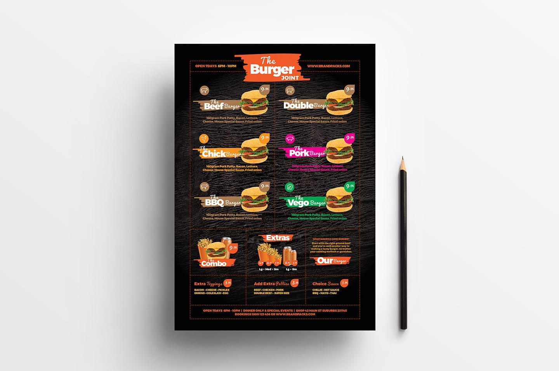 Free Fast Food Menu Template For Photoshop Illustrator