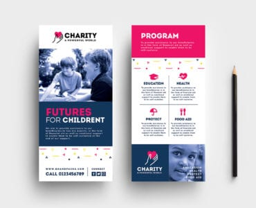 Free Charity DL Rack Card Template