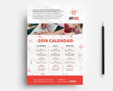 Free Kid's School Flyer Template