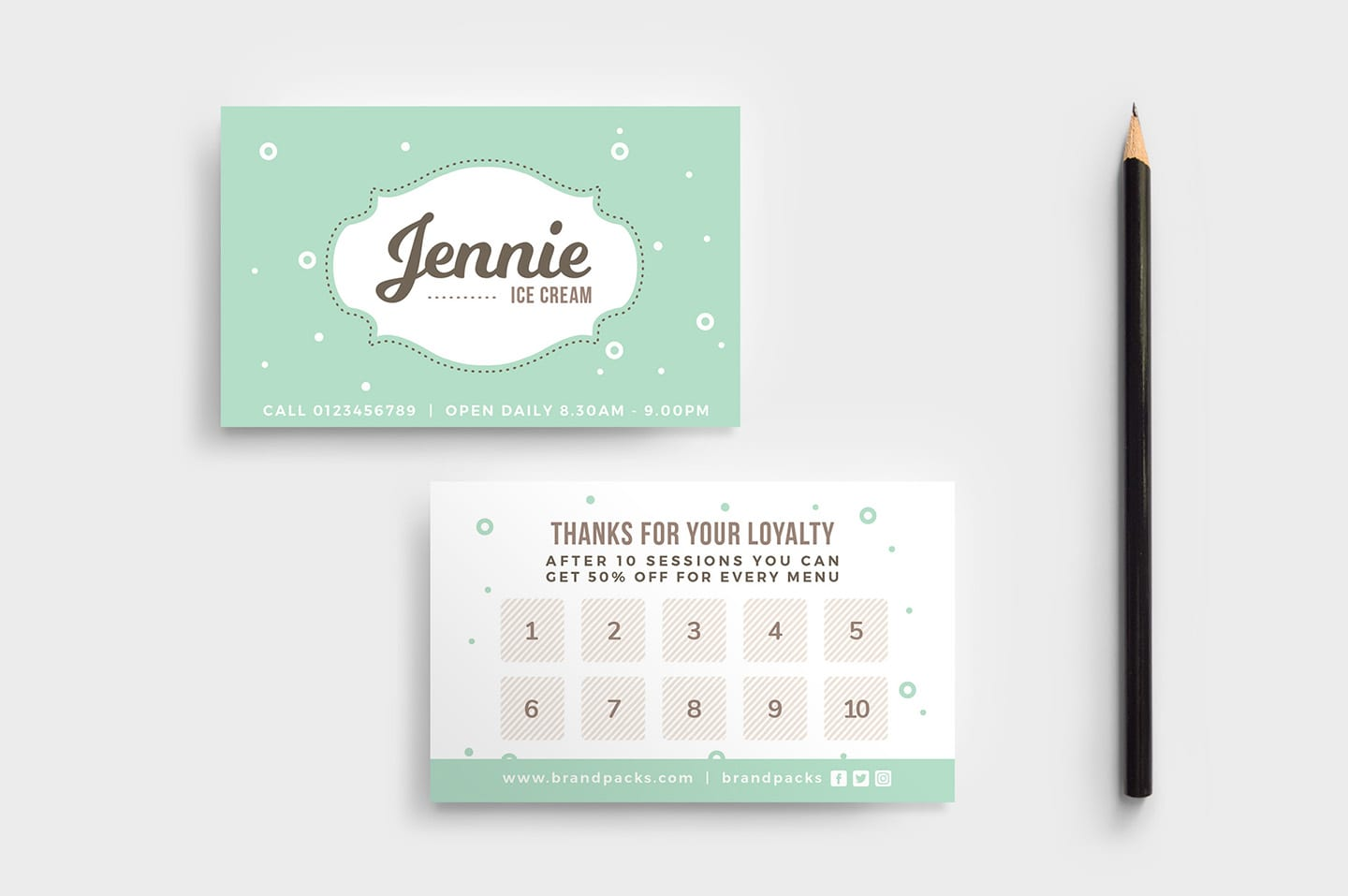 Free Loyalty Card Template