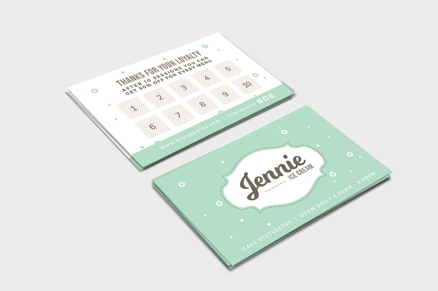 Free Loyalty Card Templates Psd Ai Vector Brandpacks