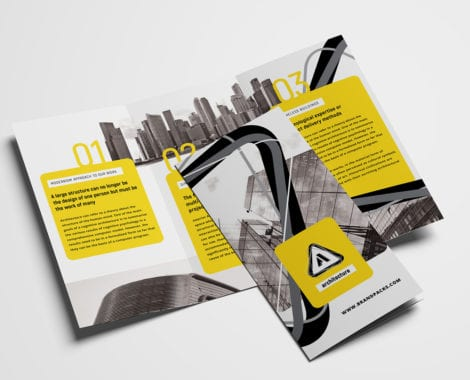 Free Modern Trifold Brochure Template