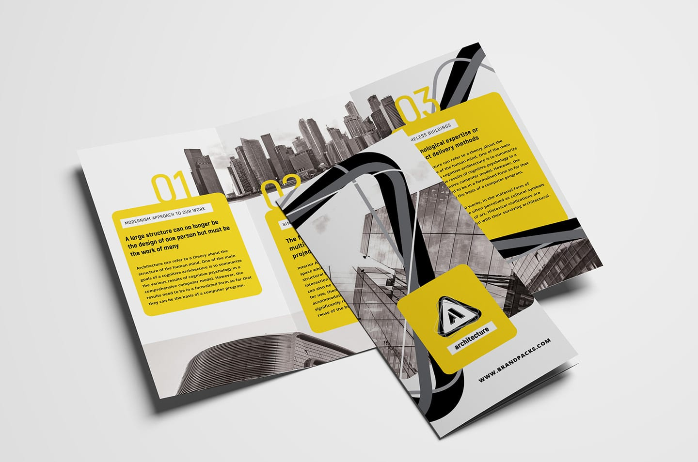 free modern trifold brochure template for photoshop