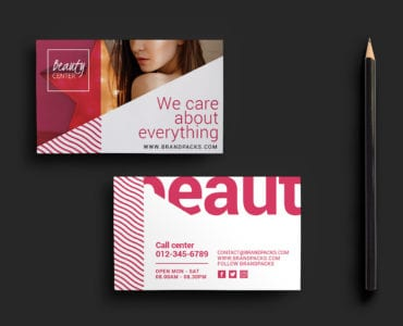 Free Beauty Spa Business Card Templates
