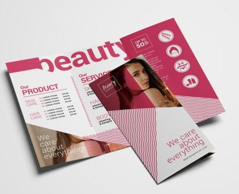 Free Beauty Spa Tri-Fold Brochure Template