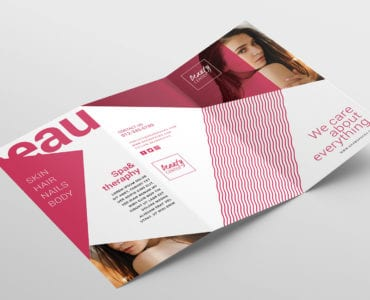 Free Beauty Spa Tri-Fold Brochure Template