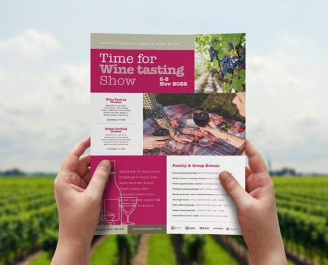 Free Wine Tasting Advertisement Template