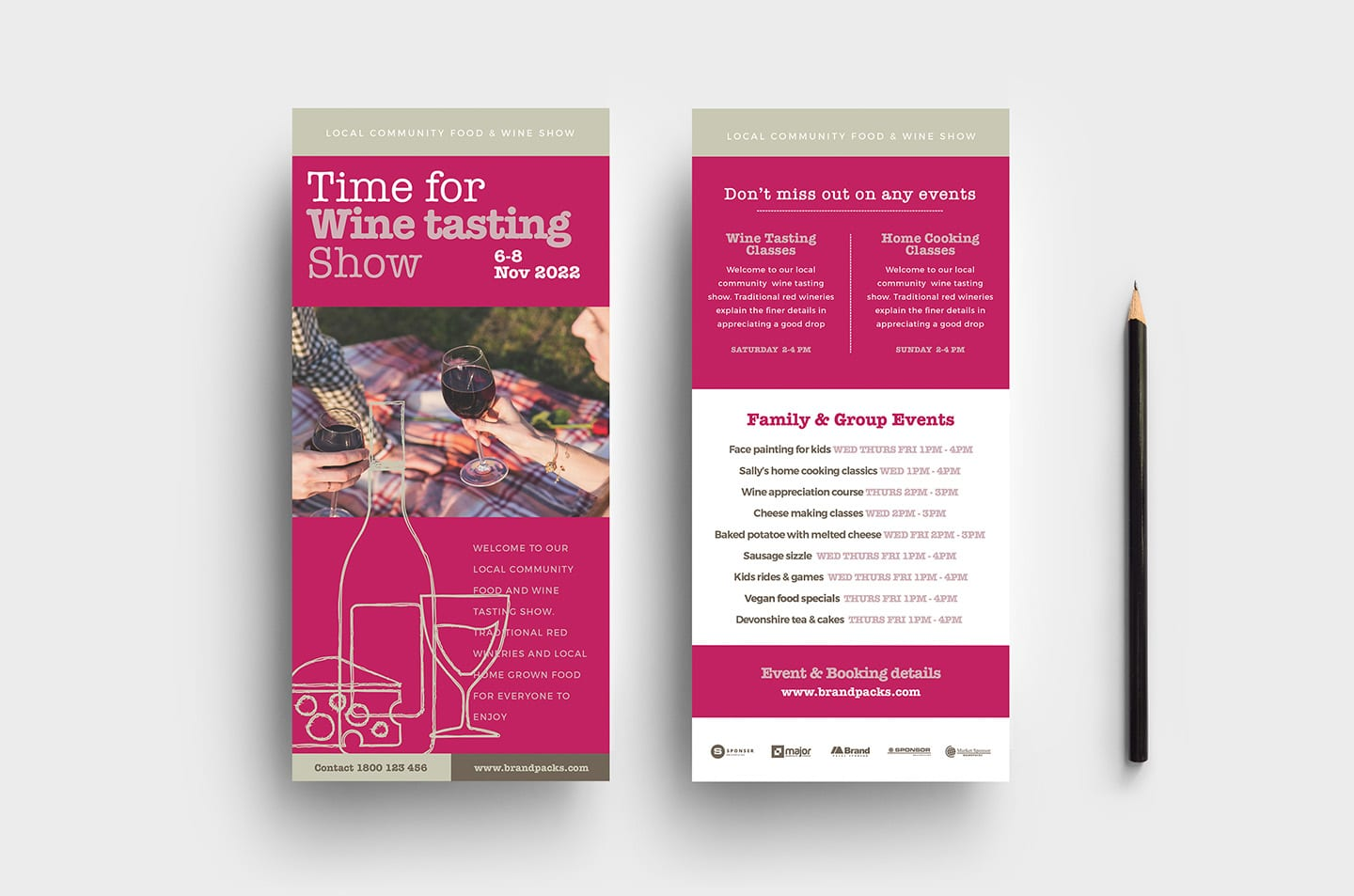 Free Wine Tasting Poster & DL Card Template - PSD, Ai