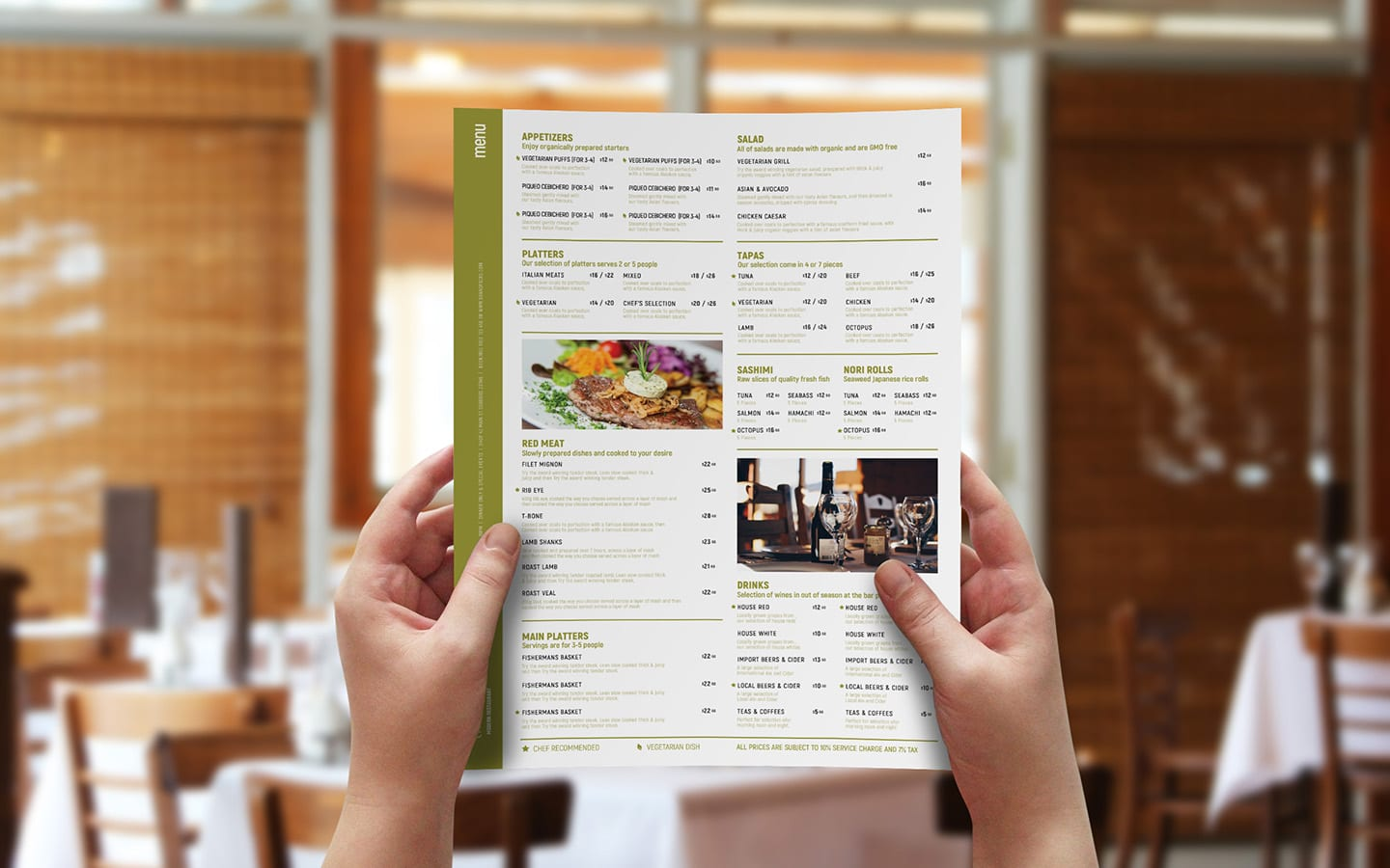 Free A3 Menu Template in PSD, Ai & Vector
