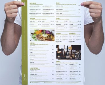 Free A3 Restaurant Menu Template