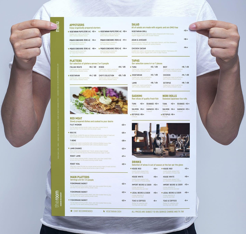free menu templates in psd  ai  u0026 vector