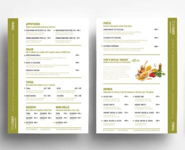 Free A4 Menu Templates in PSD, Ai & Vector