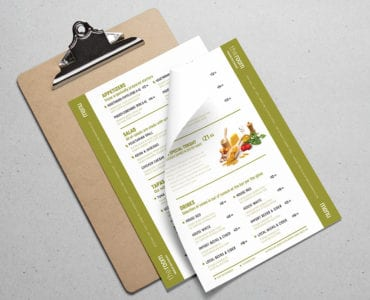 Free Menu Templates in PSD, Ai & Vector
