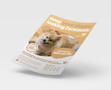 Free Pet Grooming Poster Template