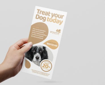 Free Pet Grooming DL Card Template