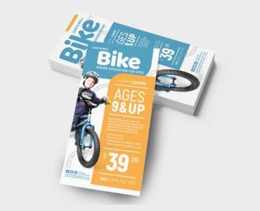 Free Children's Bike DL Card Template