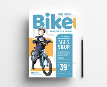 Free Children's Bike Poster Template