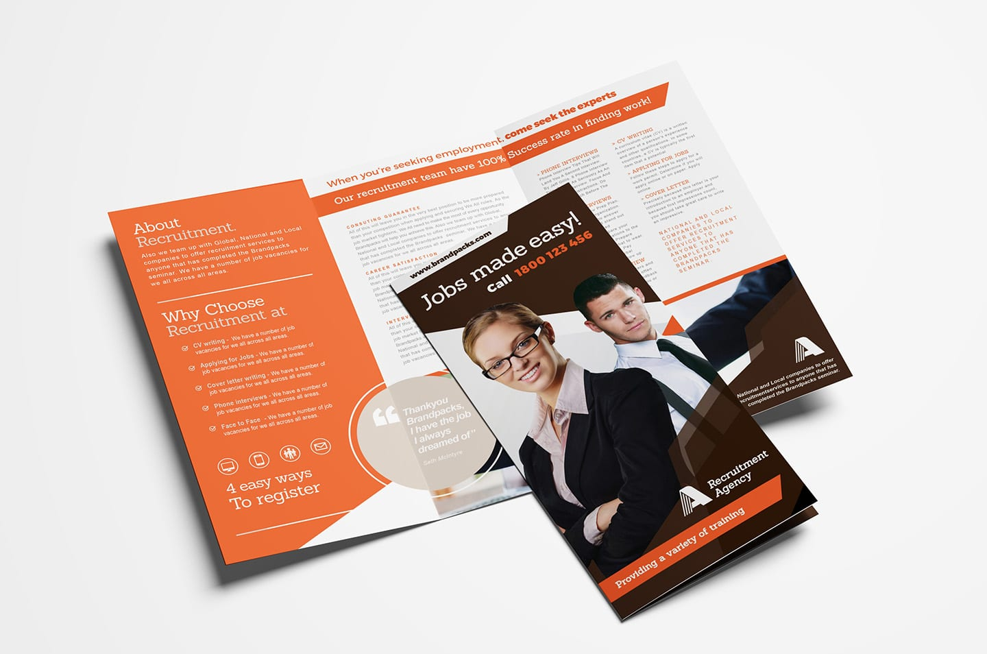 Free Corporate Tri-Fold Brochure Template Vol.2