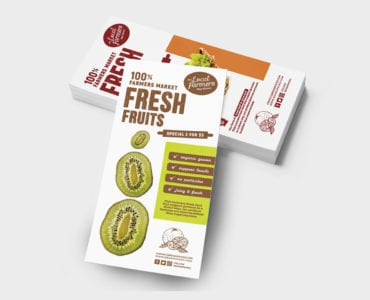Free Farmers Market Rack Card Template