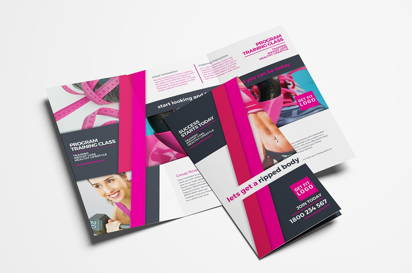 Free Gym/Fitness Tri-Fold Brochure Template