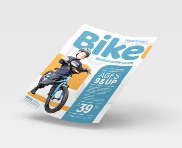 Free Kid's Bike Poster Template