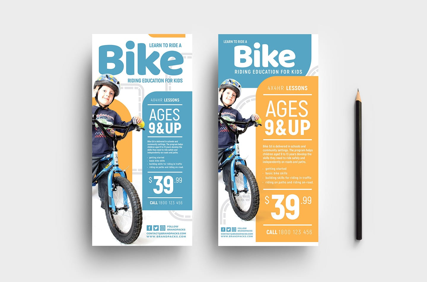 Free Kid's Cycling Flyer Template