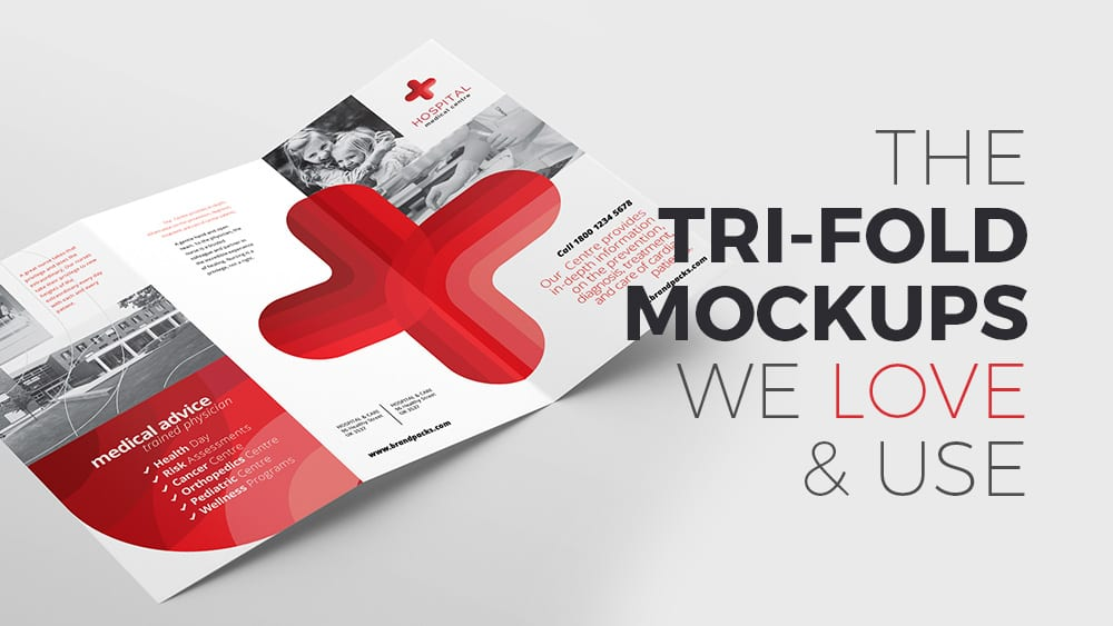 The Tri-Fold Brochure Mockups We Love & Use