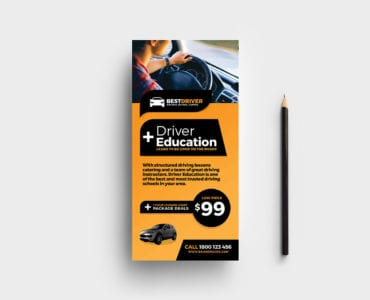 Free Driving School Rack Card Template