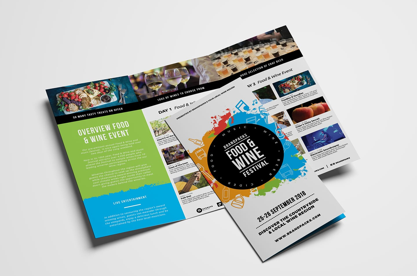 Free Tri Fold Brochure Template For Events Festivals Psd