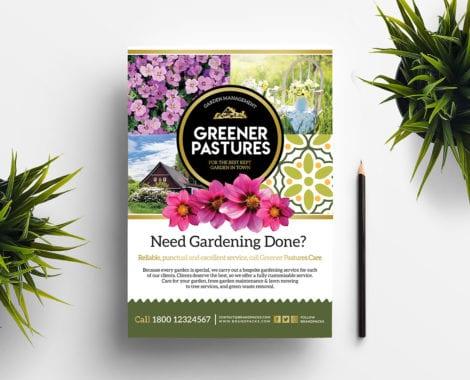 Free Gardening Poster Template
