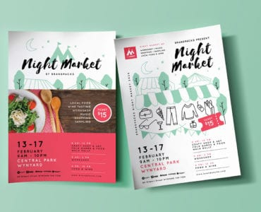 Free Night Market Poster Templates