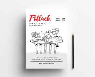 Free Potluck Poster Template