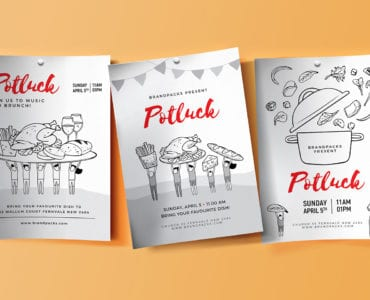 Free Potluck Poster Templates