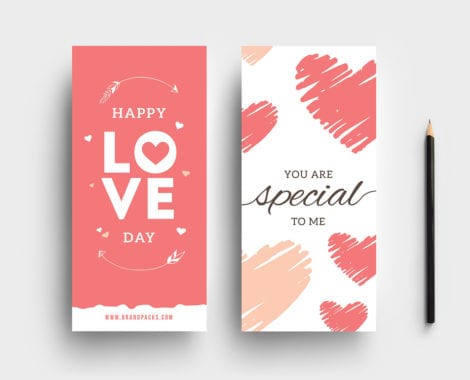 Free Valentines Rack Card Templates