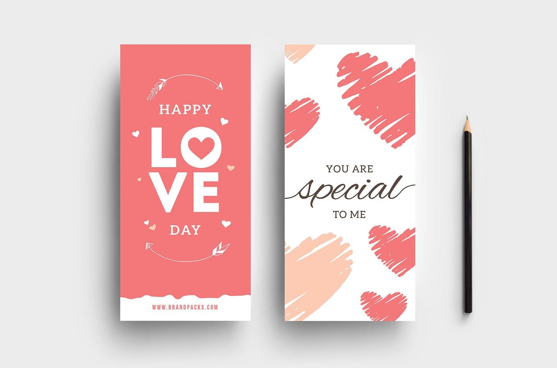 Free Valentines Rack Card Templates