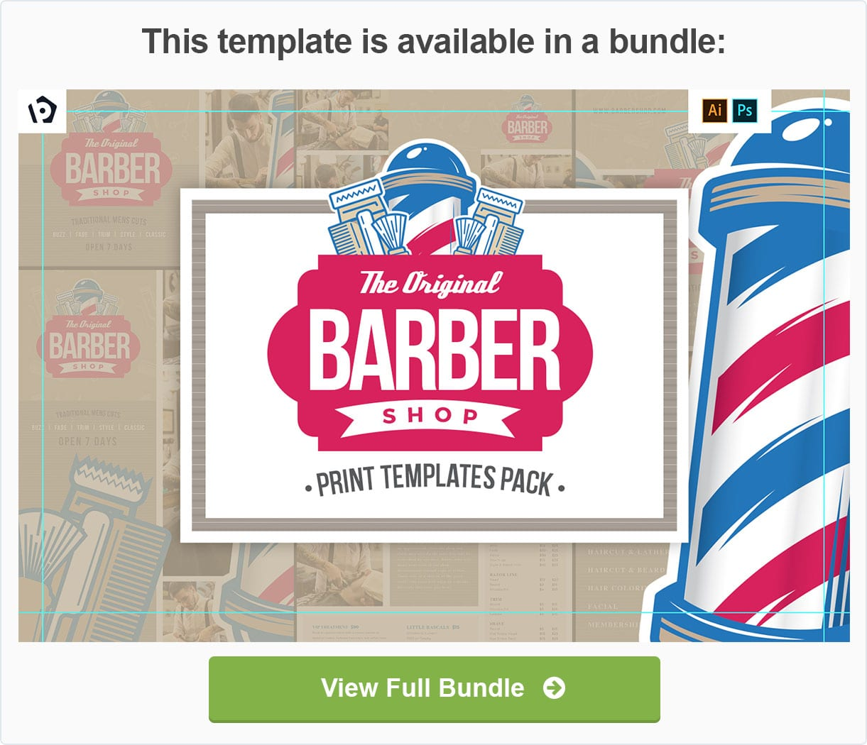 Barber Shop Templates Pack by BrandPacks