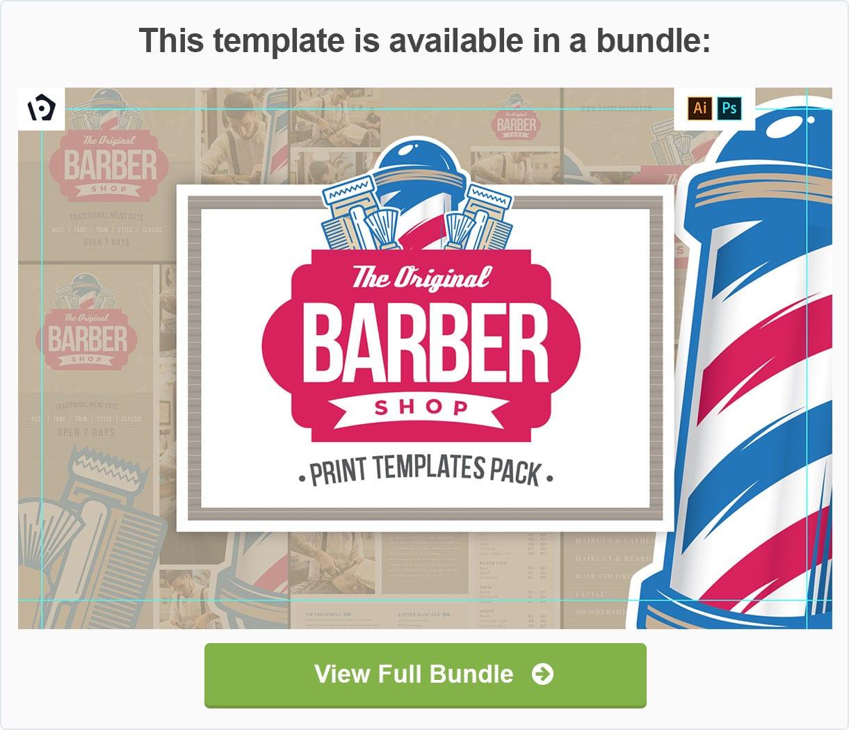 Barber Shop Templates Pack by BrandPacks