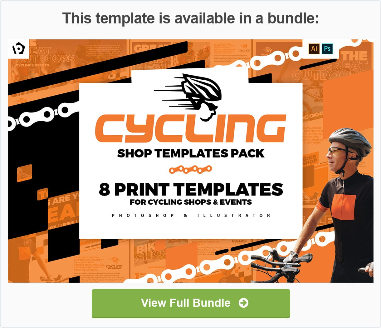 Cycling Shop Templates Pack by BrandPacks
