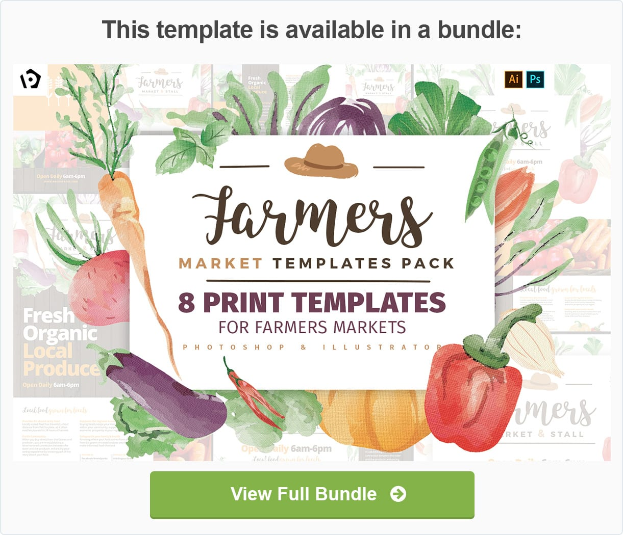 Farmers Market Templates Pack by BrandPacks