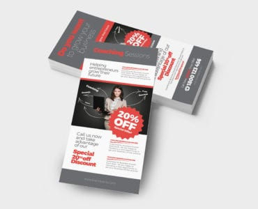Free Business Coach Rack Card Template