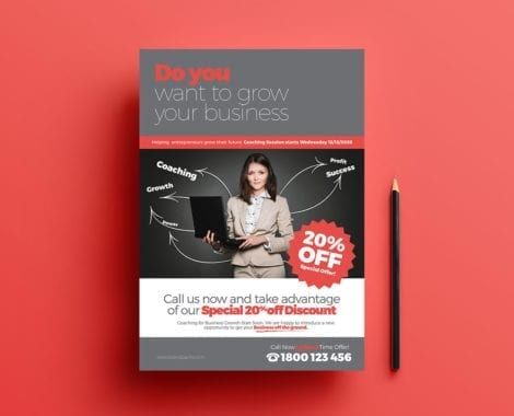Free Business Coach Poster Template