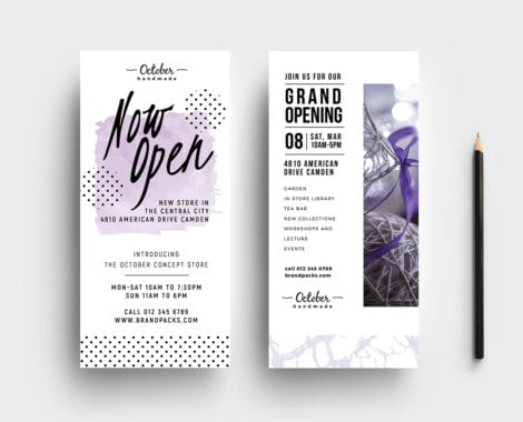 Free Grand Opening Rack Card Template