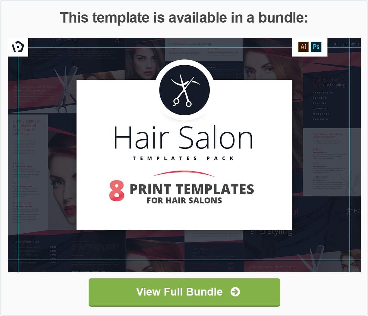 Hair Salon Templates Pack by BrandPacks