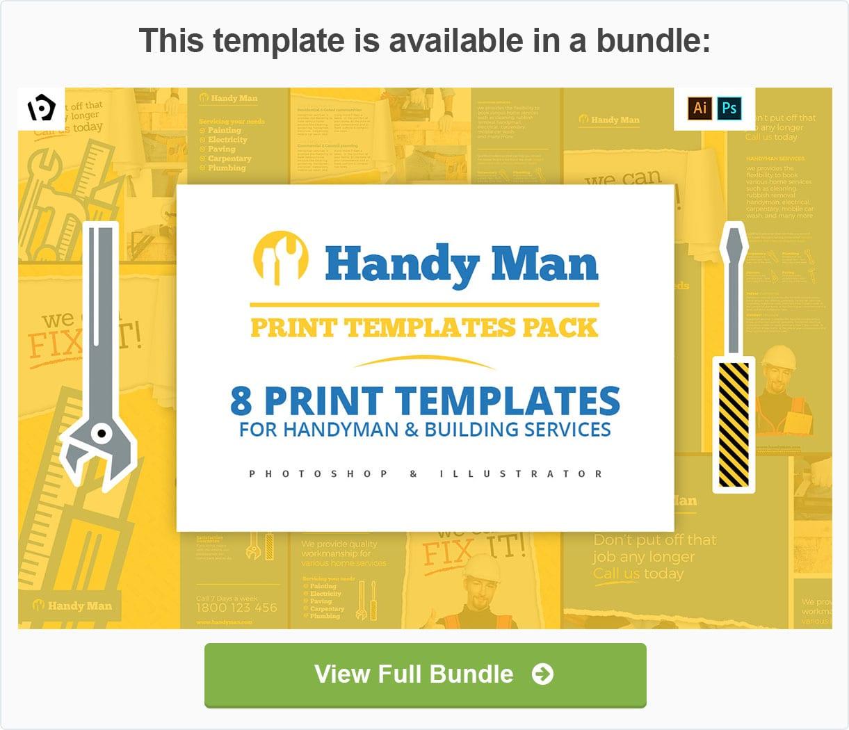 Handyman Flyer Template By Brandpacks Graphicriver