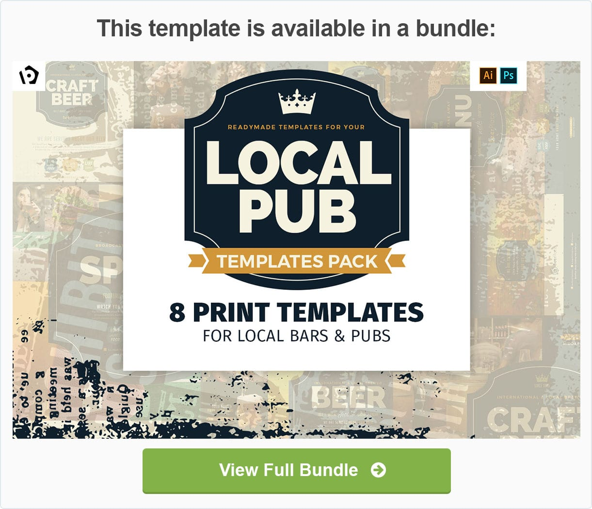 Local Pub Templates Pack by BrandPacks
