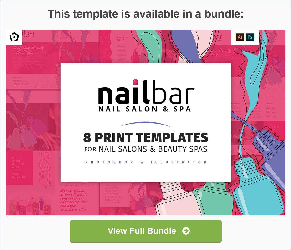 Nail Salon Templates Pack by BrandPacks