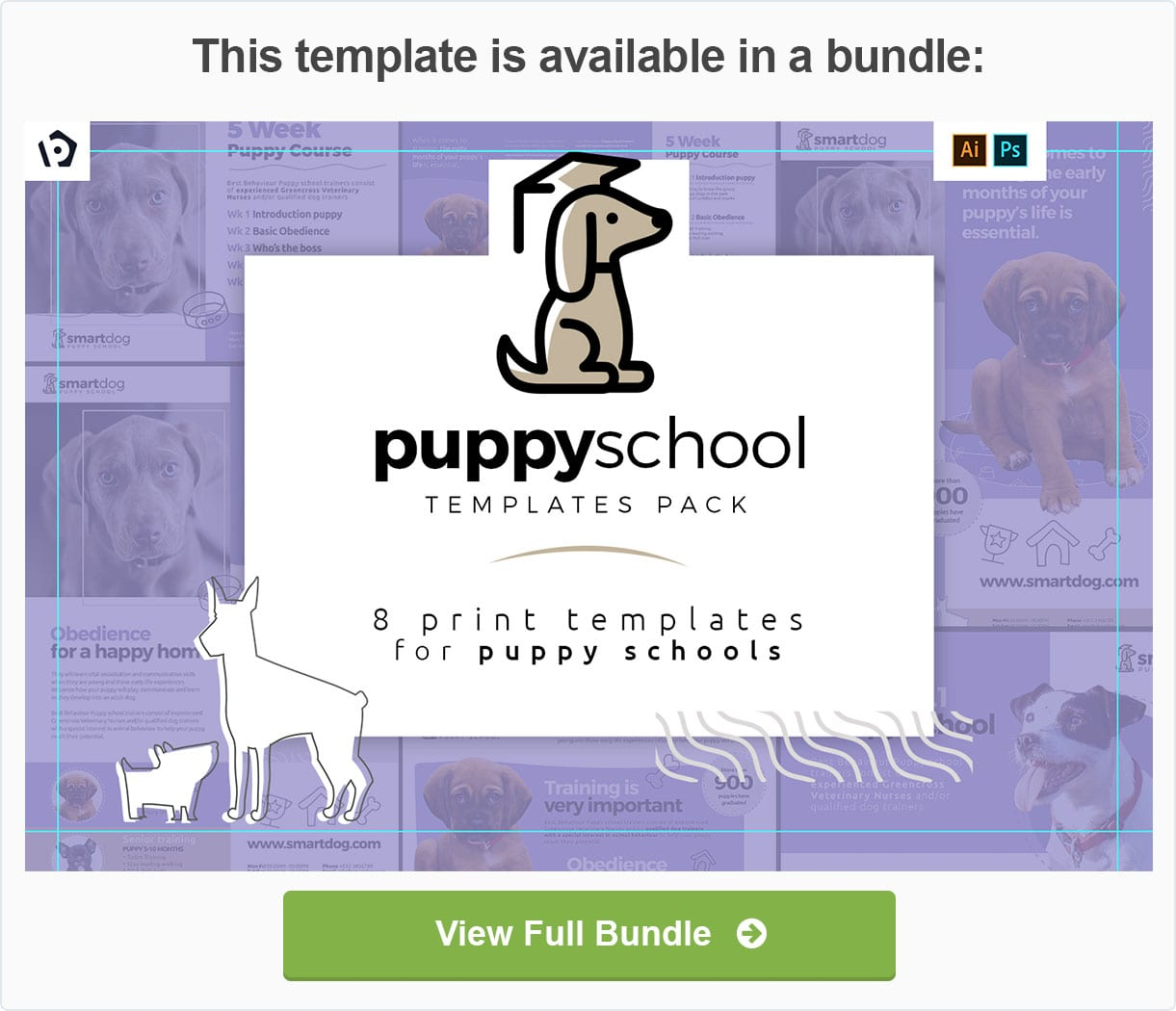 Puppy School Templates Pack by BrandPacks