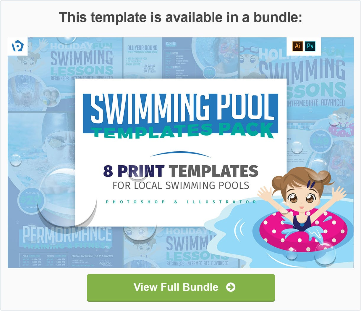 Swimming Pool Templates Pack by BrandPacks