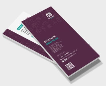 Free DL Menu Rack Card Template